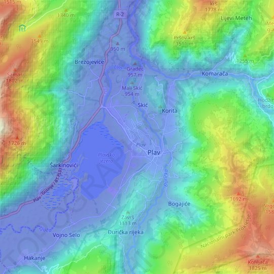 PL topographic map, relief map, elevations map